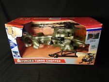 2002 GI Joe  Vehicle Motorized Helicopter  Helo Chopper Winch  Vintage Hasbro