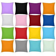 Solid Color Cushion Cover Square Throw Pillow Case Sofa Couch Home Decor 16-20''