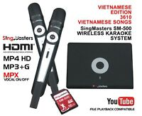 VIETNAMESE KARAOKE MACHINE,SingMasters Magic Sing,3610+ Vietnamese Song,Wireless