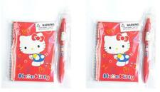 Lot of Original Sanrio Hello Kitty Red Note Pad Mechanical Pencil Pen 4 Items