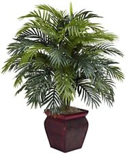 Nearly Natural Green Areca Decorative Planter Artificial Silk Plant 38 in New
