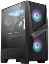 MSI MAG FORGE 100R ARGB ATX Mid Tower Gaming Computer PC Case Tempered Glass