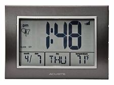 AcuRite Atomic Alarm Clock with Date, Day of Week and Temperature