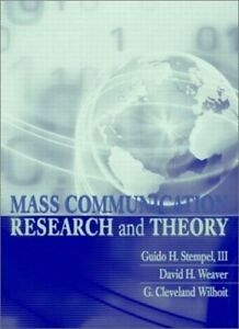 Mass Communication Research and Theory by Wilhoit, G. Cleveland Hardback Book