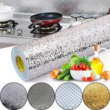Kitchen Cabinet Wallpaper Oil-proof Aluminum Foil Wall Sticker Self Adhesive