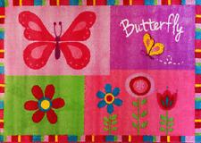 Butterfly Border KIDS FLOOR RUG 150 x 100 cm