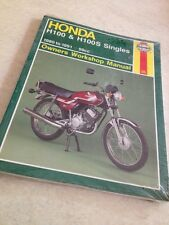Haynes Honda H100 H100S H 100 80 to 91 owners workshop manual revisión técnica