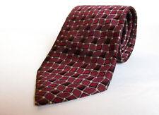 "Roberto Villini Couture Men's Tie Mostly Maroon All Silk Handmade 60"" L 3 3/4"" W"