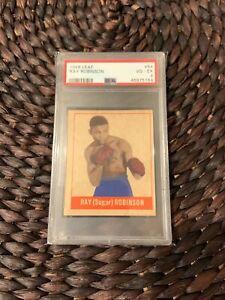 1948 Leaf Boxing #64 Sugar Ray Robinson Rookie Card VG-EX 4