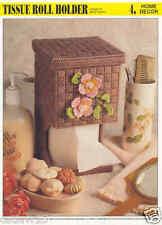 Tissue Roll Holder plastic canvas pattern ~ Annie's