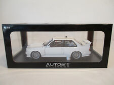 ( GOK ) 1:18 AUTOart BMW M3 E30 DTM Plain Body Version WhiteNEU OVP