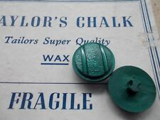 Pack of 6 vintage buttons 19mm textured with shank forest green colour