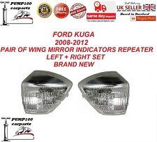 FORD KUGA 2008-2012 PAIR OF WING MIRROR INDICATOR REPEATER LIGHT LENS L+R SET
