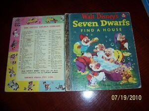 Seven Dwarfs find a house LITTLE GOLDEN BOOK D33:30 MMCB vintage WALT DISNEY LGB