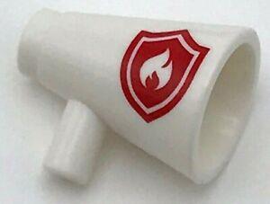 Lego New White Minifigure Utensil Megaphone Speaking Trumpet Red Firefighter