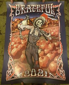 2021 Dead and Company Grateful Fall Poster