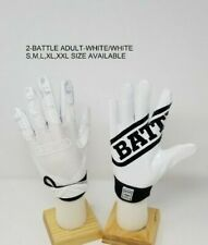 Battle Ultra-Stick Football Receivers Gloves White and white Adult