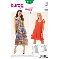 Burda Style Super Easy SEWING PATTERN 6663 Dress With Shoulder Ties 8-18