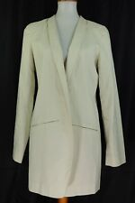 Eileen Fisher Womens Long Sleeve Blazer Off White Size 12 Open Front