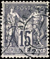 "FRANCE - Yv.77 15c Sage t.II oblitéré CàD t.17 ""AIX-EN-ROVENCE / (12)"" )- TB"