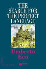 The Search for the Perfect Language (The Making of Europe) Eco, Umberto Paperba