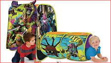 Teenage Mutant Ninja TURTLES Adventure Hut TENT & TUNNEL - EZ Setup 4' Long =NEW