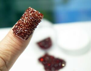 GARNET RED CRYSTALS FOR NAILS 1000 Swarovski Pixiecrystals Nail Art Small Gift