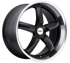 18x9.5 TSW Stowe 5x114.3 +20 Black Rims Fits 350z G35 Nissan Rx8 Rx7