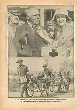 Général Pau Infirmière US Nurse San-Francisco Sammies Brancardiers 1918 WWI