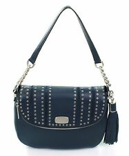 Michael Kors Medium Blue Mini Grommets Bag Shoulder Bag Satchel RRP £310.00