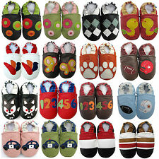 carozoo semelle souple pour bébés en cuir/pantoufles de chaussures enfant crèche