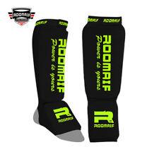 ROOMAIF Schienbein-Spannschoner Beinschützer MMA Fußschutz Boxen Muay Thai Kick