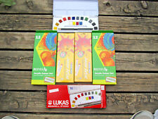 Lot! of New Lukas Water paints, Cray-Pas oil pastels, Reeves Acrylic colour set