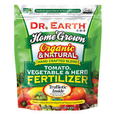 Dr Earth 4 lbs Tomato Vegetable Herb Fertilizer Slow Release Organic Plant Food