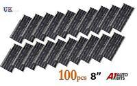 100 x Pneumatico senza Camera D'Aria Kit Riparazione 20.3cm Strisce Spina Auto