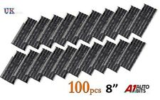 "100 x Tubeless Tire Tyre Puncture Repair Kit 8"" Strips Plug Car Van Truck Bike"