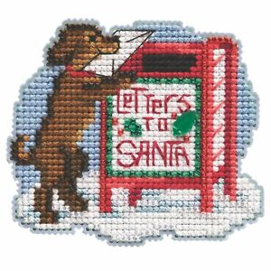 Letters to Santa Cross Stitch Ornament Kit Mill Hill 2021 Winter Holiday