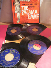 THE PAJAMA GAME * 1950's N MINT * BOX set of 4 45s * NICE CLEAN ORIGINAL RECORDS