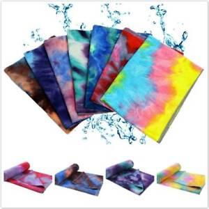 New Microfiber Sports Fitness Yoga Towel Non Slip Grip Mat Cover Sweat Towel YO