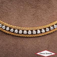 CARTIER Vintage Italian 1.50ct Diamond 18K Gold Platinum Necklace 40.8 Gr NR