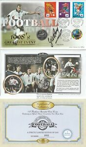 FRANCE 1998 WORLD CUP COIN SIGNED GLEN HODDLE FIRST DAY COVER MULTI SHSs