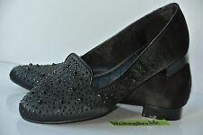 NEW Rock & Republic Keeley Womens Sz 7.5 M Black Textile Studded Loafers Flats