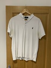 Ralph Lauren - White Custom Fit Horse Polo - Size Extra Large