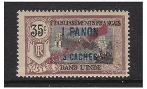 Französisch Indisch Siedlungen - 1941,1fa3 Auf 35c Diagonale nach Oben Opt) L/M