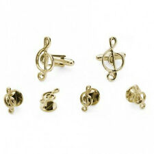 Musical Notes Cufflink and Stud Set