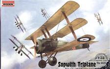 SOPWITH TRIPLANE BRITISH FIGHTER BIPLANE WWI 1/32 RODEN 609