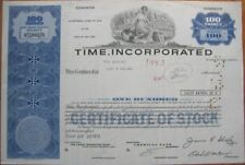 1973 Magazine/Publishing  Stock Certificate: TIME, Inc.