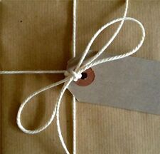15m White/Cream Bakers Butchers Twine Shabby Chic Parcel buy 2 get a 3rd free