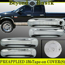 2005-2011 DAKOTA Chrome 4-dr Door Handle COVERS + Gas Door COVER Cap W/O PSK