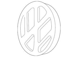 Genuine Volkswagen Emblem 1J0-853-601-FDY